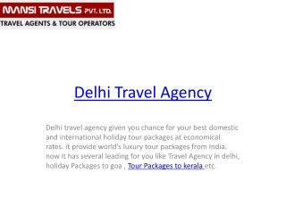 delhi travel services