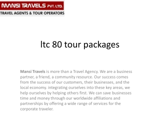 ltc tour packages
