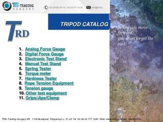 TRIPOD CATALOG
