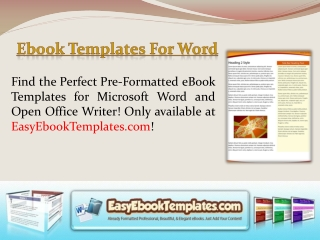 Microsoft Word Ebook Template