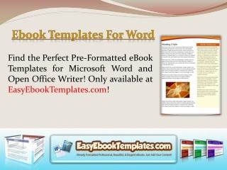Microsoft Word Ebook Template