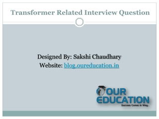 Important Questions of Transformer
