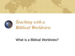 Teaching with a 