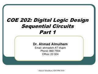 Ahmad Almulhem, KFUPM 2010
