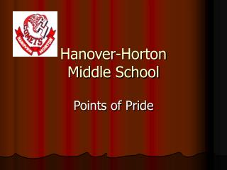 Hanover-Horton  Middle School