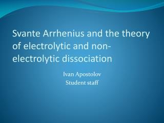 Ivan Apostolov Student staff