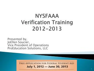 NYSFAAA Verification Training 2012-2013