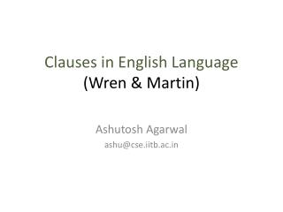 Clauses in English Language