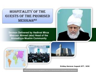 Friday Sermon August 31ST,  2012