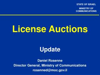 License Auctions
