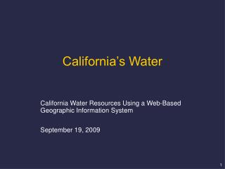 California's Water