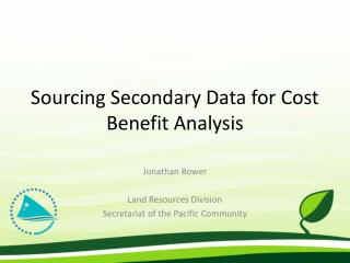 Sourcing Secondary Data for Cost Benefit Analysis