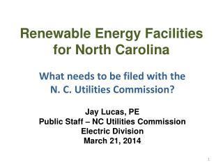 Renewable Energy Facilities in North Carolina
