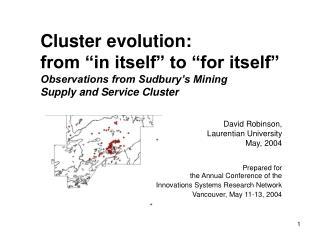 David Robinson,Laurentian University May, 2004
