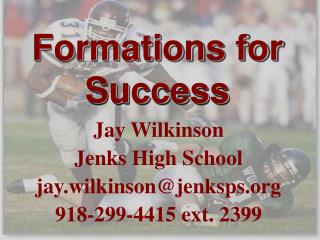 Formations for Success