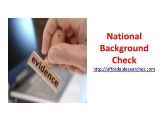 National Background Check