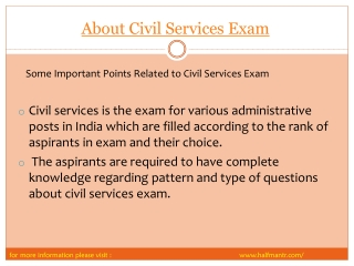 Pdf  About Civil Services Exam