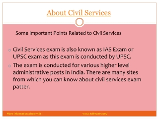 Pdf About Civil Services