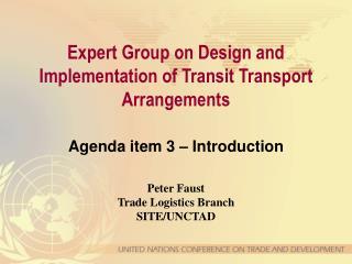 Agenda item 3 – Introduction