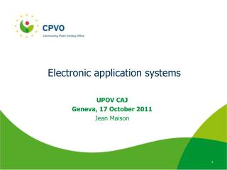 Electronic application systems