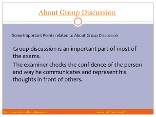 some important point About Group Discussion