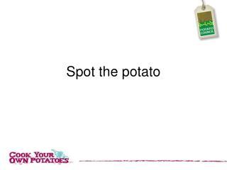 Spot the potato
