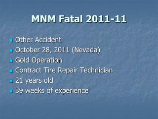 MNM Fatal 2011-11