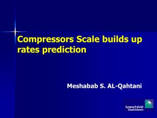 Compressors Scale builds up rates prediction