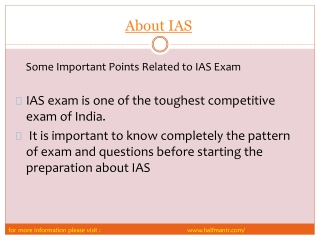 impotant steps About IAS