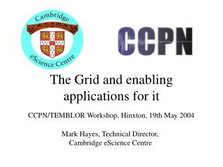 The Grid and enabling applications for it