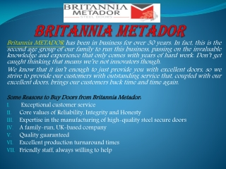 Best door frames in UK by the Britannia Metador