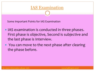 Few Steps For IAS Examination