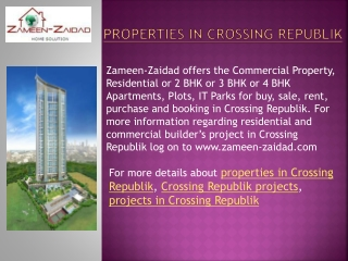 properties in Crossing Republik