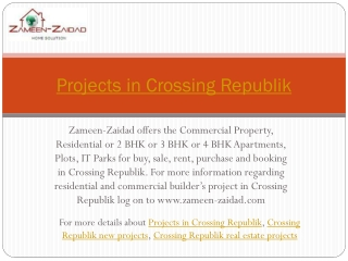 Projects in Crossing Republik