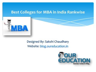 Best Colleges for MBA in India Rankwise