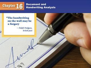 Document and Handwriting Analysis