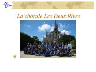 La chorale Les Deux Rives