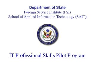 IT Professional Skills Pilot Program