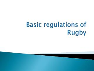 basic regulations of rugby