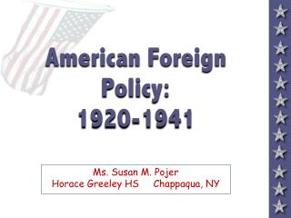 american foreign policy: 1920-1941american foreign policy: