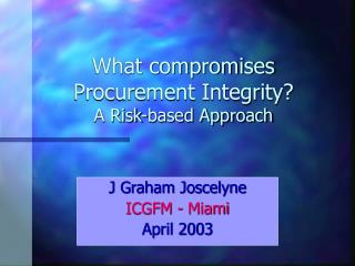 J Graham Joscelyne