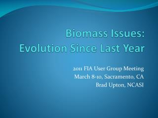 Biomass Issues: