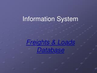 Information System