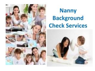 Nanny Background Check Services