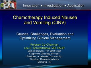 chemotherapy induced nausea and vomiting cinv