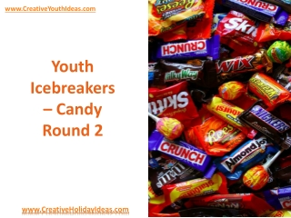 Youth Icebreakers - Candy Round 2