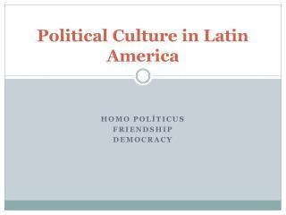 Homo PolíticusFriendship Democracy
