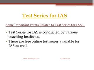 Hurry! collect Test Series for IAS