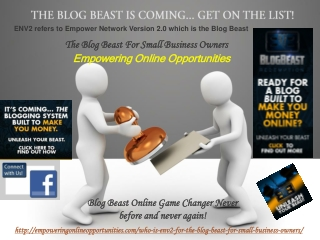 Blog Beast ENV2 Make Money with New Blogging Platform