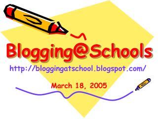 Blogging@Schools